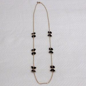 J.Crew Black Bow Necklace